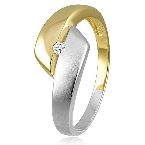 317b2aaa98e6 Diamond Line Mujer 9 k (375) oro amarillo corte brillante redondo blanco  diamante FINERING