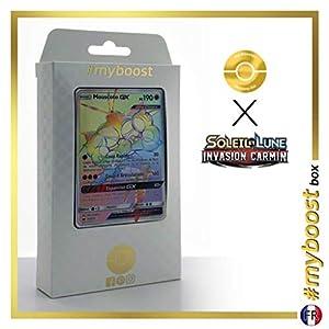 Mouscoto-GX (Buzzwole-GX) 115/111 Arcoíris Secreta - #myboost X Soleil & Lune 4 Invasion Carmin - Box de 10 Cartas Pokémon Francés