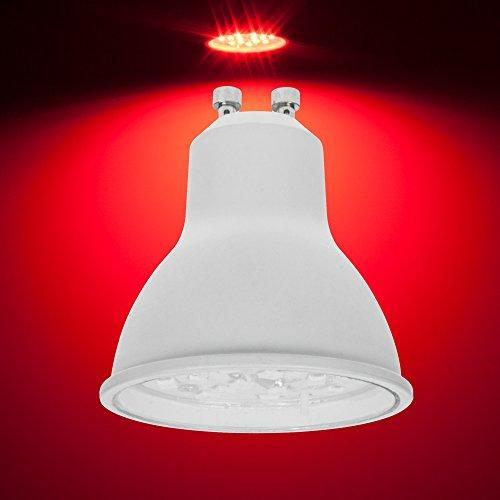 Pro-Lite Ampoule LED 7W GU10 Couleur Rouge fermeture à baïonnette non dimmable