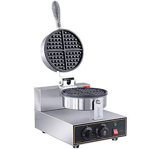 JALAL Máquina de gofres de calefacción eléctrica Comercial UWB-1 Horno de gofres...