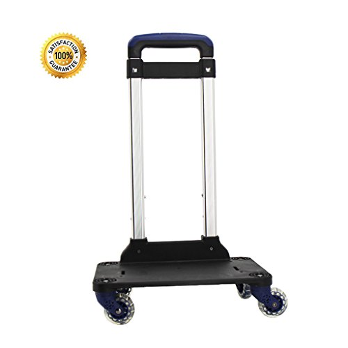 Backpack Trolley - Camión de ruedas con ruedas 360 Rolling Wheels para niños Kids School Bags, Carro de equipaje Travel Trolley con hebillas Straps (4 ruedas)