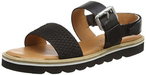 Marc O'Polo Flat Sandal, Sandales Bride cheville femme Noir - Noir (990)