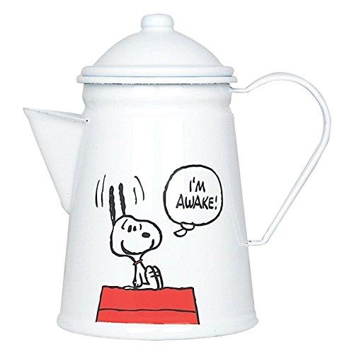 Peanuts I'Awake. 'm' Emaille-Kaffeekanne