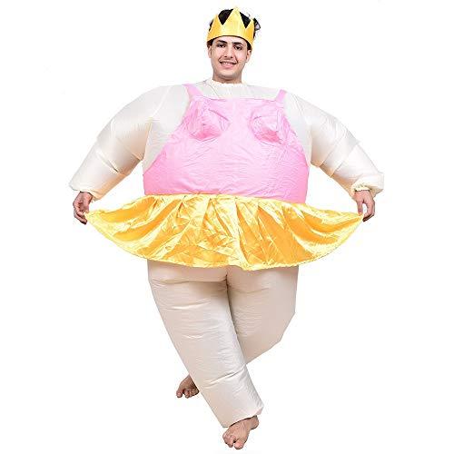 sakj-da KostümstützenChristmas Dance Kostüm Ballett Sumo Leistung Aufblasbare Kostüm Cartoon Puppe Tanz Adult, Pink, 150-190 cm