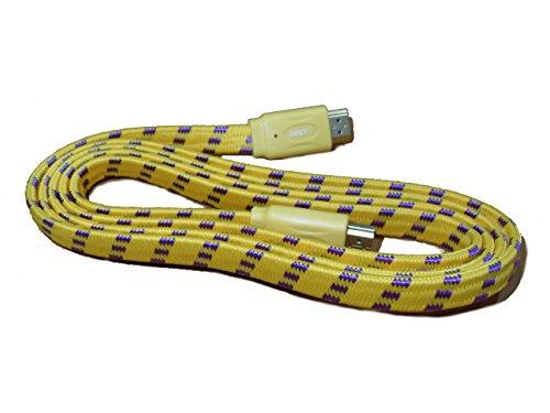 deet-tm3249-1m-hdmi-a-hdmi-pro-giallo-cavo-intrecciato-contatti-dorati-veloce-versione-14-ad-alta-ve