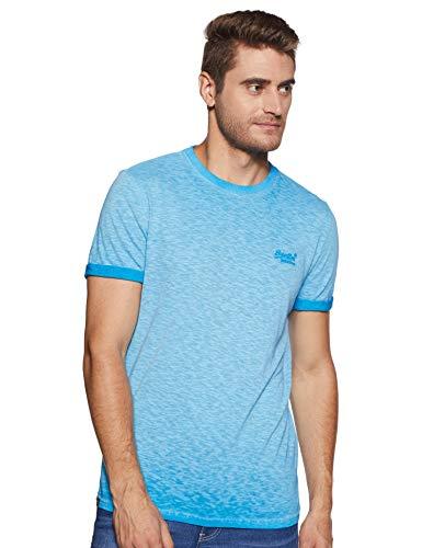 Superdry Herren Low Roller Tee T-Shirt, Türkis (Deep Turq D3b), X-Large (Herstellergröße: XL) - Low-taschen