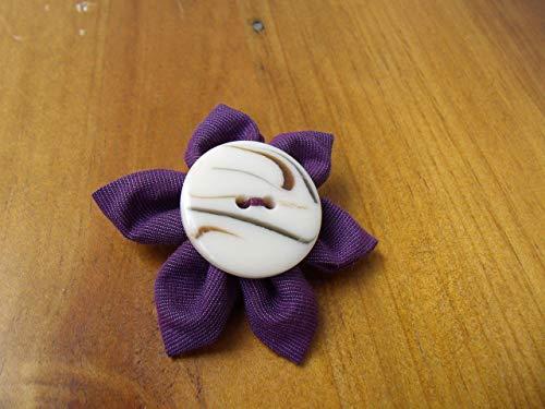 Niedliche Nadel (Brosche Anstecknadel Broschennadel Nadel Blumenanstecker Blumen Blümchen Kanzashi)