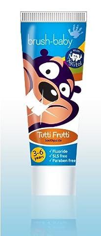 Brush-Baby Children's Tutti Frutti Toothpaste 3-6 years (75ml) PACK OF 3 TUBES