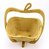 GC Handgemachte Zusammenklappbare Dekorative Hölzerne Apple-Form-Ablagekorb, Küche-Ausgangsdekor-Zusätze