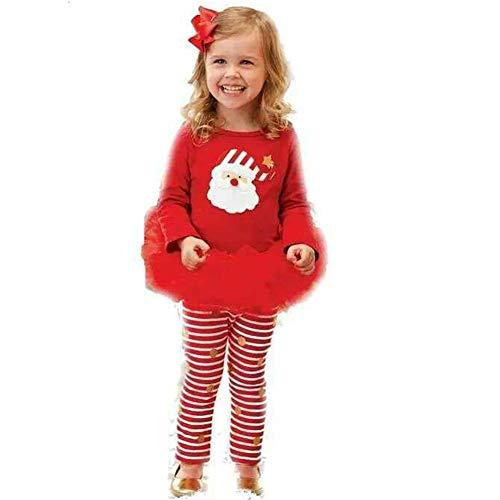 Unbekannt FAFY Weihnachten Kinder Mädchen Weihnachtself Kostüm Kinder Elf Cosplay Kostüme Karneval Party Supplies Purim Halloween Weihnachten, 70-110 ()