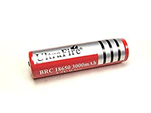 1 Pile 18650 Protected Rechargeable 3000mAh 3.7V UltraFire