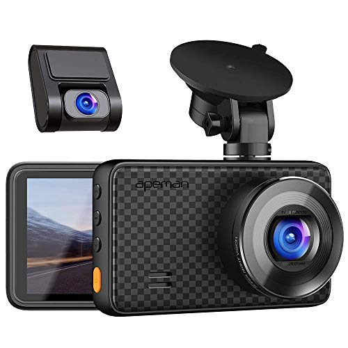 APEMAN 1440P&1080P Dual Dash Cam, 1520P max, Front and Rear Camera for Cars with 3 Inch IPS Screen, Support 128GB, Driving Recorder with IR Sensor Night Vision, Motion Detection, Parking Monitor Logo