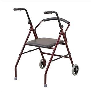 WZHWALKER Älterer Spaziergänger, Tragender Fußlaufensitz Unterstützter Gehender Spaziergänger, Gehhilfe des Älteren Behinderten Gehens, Rot