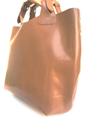 SUPERFLYBAGS Borsa Shopper a Mano o a Spalla in Vera Pelle Liscia e Lucida modello Barbara 2 in 1 made in Italy taupe