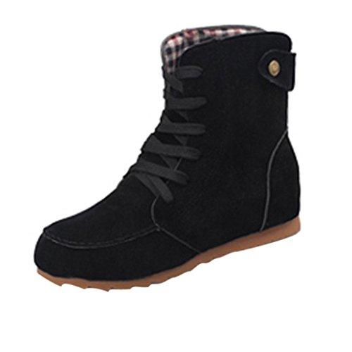 Zapatos por ESAILQ Botas Planas de Nieve de Tobillo de Mujer Botas...