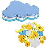P Prettyia 42 Unid Etiqueta en Forma de Nubes, Luna, Sol, Nubes,
