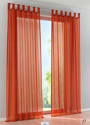Be&xn Eleganz Schal Volant Weich Schiere Schleier Transluzent 1 tafel Fenster Vorhang Für für Schlafzimmer Wohnzimmer-Terrakotta 140x260cm(55x102inch)