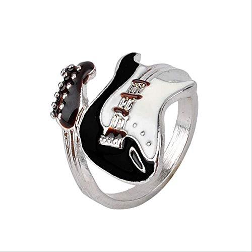 Mhsm Ring Mode Elektrische Fingerlegierung Stil Frauen Ring Schmuck Rock Männer Unisex Gitarre Persönlichkeit Punk Ring 19 Als Bild