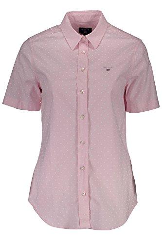 GANT Damen Bluse Oxford Printed Dot Kurzarm Pink (71) 34