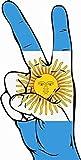 UB Aufkleber Argentinien Peace Finger 13 cm x 6 cm Flagge/Fahne (Autoaufkleber)