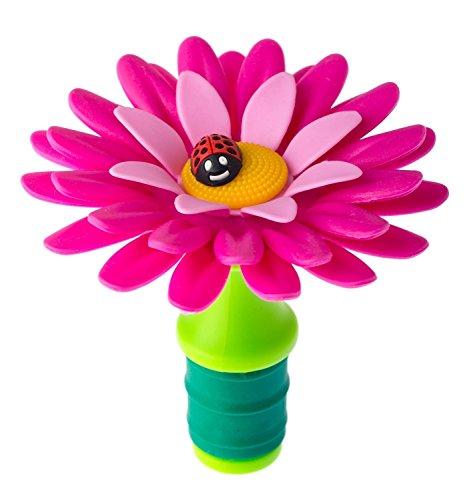 VIGAR Flower Power Flaschenverschluss, Gummi, pink, 7.5x 7.5x 7cm 7.5 Gummi