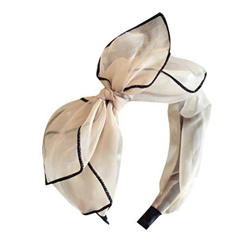 YWLINK Damen Mesh Mode Elegant Bogen Stirnband Bowknot-Haarnadeln MäDchen Haar Haarspangen Party Kopfbedeckung Haarband