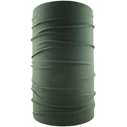 headloop multifunción, pañuelo Bandana pañuelo en la cabeza microfibra, color Verde oliva, tamaño talla única