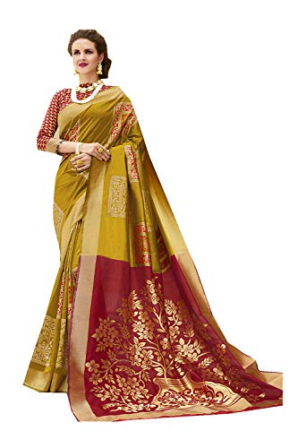 94a5abaa17 Indian Sarees for Women Designer Party Wear Traditional Golden Sari.