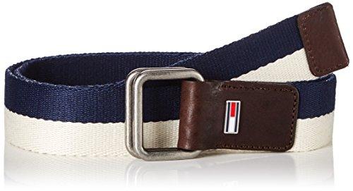 Hilfiger Denim Thd Stripe Webbing Belt 4, Ceinture Homme Bleu (Tommy Navy/ivory)