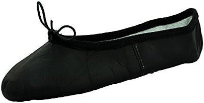 Starlite Básica Negro zapatos de ballet de cuero, Encuadre Sole