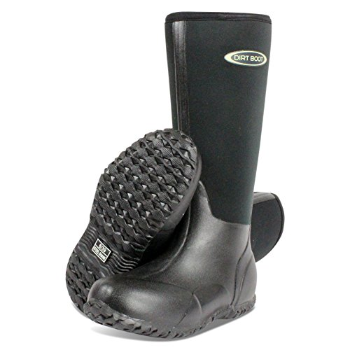 Dirt Boot Neoprene Wellington MUCK Field Fishing Boots Wellies Ladies Mens Black