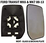 Transit Parts Front Door Wing Mirror Glass Transit MK6 MK7 2000-2014 Drivers Right Side