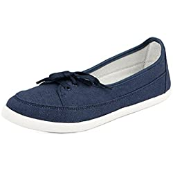 Asian Shoes Women's Canvas Casual Shoes (LR-73s5cBLUE__Blue_5 UK)