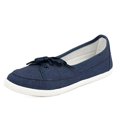 Asian shoes LR-73 Blue Canvas Womens Shoes 7 UK/Indian