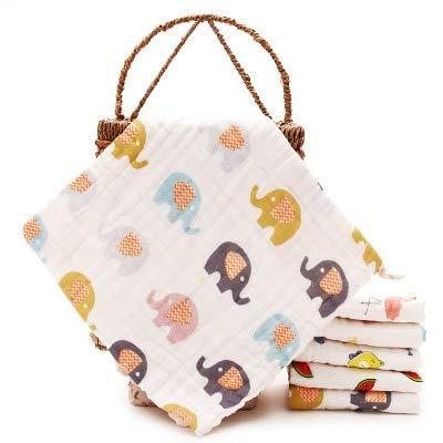 lutowio Baby Handtuch Baumwolle 6 Schichten Gaze 30 * 30Cm Neugeborenen Säugling Cartoon Gesicht Hand Baden Lätzchen Baby Zeug Baby Handtuch Gewaschen Elefant