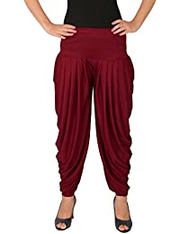 Several Side Pleats Style Dhoti Pant Of Women - Culture The Dignity Women's Lycra Side Pleated Dhoti Patiala Salwar...