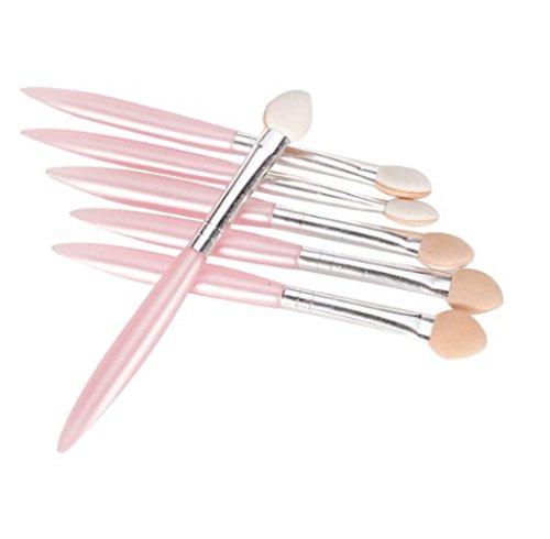 kelaina 6PCS Kosmetik Applikatoren weichen Schwamm Spitze Lidschatten Pinsel für Frauen (Pink)