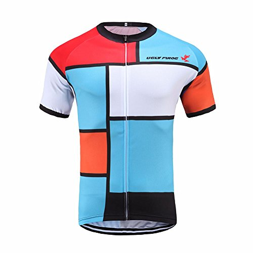b125415c7 Uglyfrog SYTD04 Mens Outdoor Sport wear Breathable Short Sleeve Cycling  Jersey Biking Top Full Zippered Bike