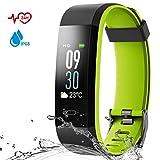 Danloryu Fitness Armband mit Pulsmesser Wasserdicht IP68 Fitness Tracker Farbbildschirm Aktivitätstracker Schrittzaehler Uhr Smart Armbanduhr Fitness Uhr für Damen Herren (Grün)