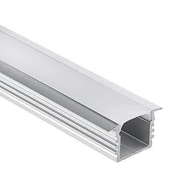 led aluminium profil pl3 glanfar 1 meter f r led streifen plus abdeckung opal aluprofil amazon. Black Bedroom Furniture Sets. Home Design Ideas