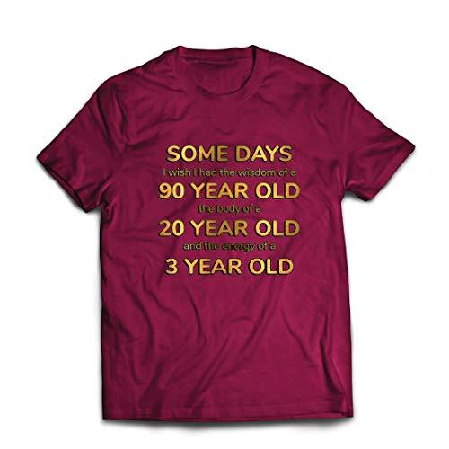 80er Jahre Ideen Herren Partei Kostüm - lepni.me Männer T-Shirt Kluges, sexy und energisches lustiges Zitat (X-Large Burgund Mehrfarben)