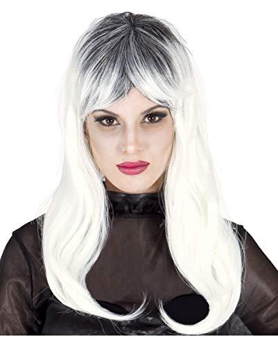 Horror-Shop Schulterlange Zombie Perücke für Frauen - Halloween & ()