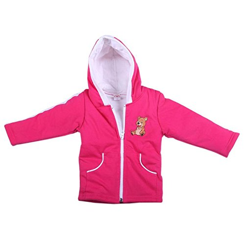 Brim Hugs And Cuddles Pink Sweater For Baby Girls/Baby boys With Hood and Zipper