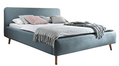 sette notti Polsterbett 180x200 cm Landhausstil Webstoff Eisblau, Bett mit variabeler Einlasstiefe, Mattis Art Nr. 1455-10-5000