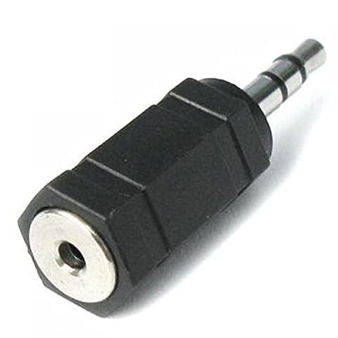 gemisport Adaptateur prise jack 2,5mm femelle à 3.5mm mâle Prise audio adaptateur convertisseur A6