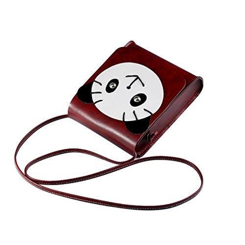 All-Match Frau Karikatur-Bär Mini-Beutel-Schulter-Beutel Crossbody-Pack Key Münze ändern Container Taschen Geldbörsen Mengonee (Mini-kabel Pullover)