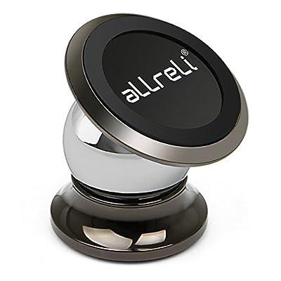 aLLreli [Nouveauté] Support Magnétique Voiture Universel 360 Degrés Rotation pour iPhone 7, 7 Plus, 6, 6S, Se, 6 Plus, 6S Plus, Galaxy S7, Note 5 et d'autres Smartphones par aLLreli - Supports voiture
