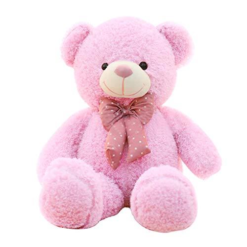 VERCART Bonbonfarben Rosa Modisch Riesen Teddybär Größe 100cm mit bogen Krawatte - Bär Riesen Teddy Valentines