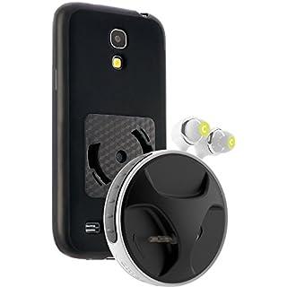 athos-c SmartWind-Bumper Duo für Samsung Galaxy S4 mini - Hochwertiger, abnehmbarer Kabelaufroller für Kopfhörer mit separater Schutzhülle