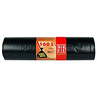50 Stk. ALUFIX Profi Bags Müllsäcke Müllbeutel LDPE 160 L, 90x110cm, schwarz